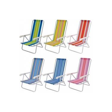 Cadeira Reclinavel 4 Posicoes Aco Cores Sortidas