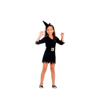 Imagem de Fantasia Bruxa Feiticeira Infantil Halloween
