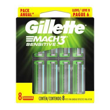 Carga Para Aparelho De Barbear Gillette Mach 3 Sensitive Leve 8 Pague 6