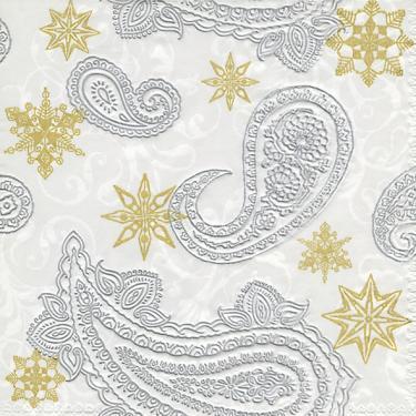Guardanapo de Papel Decorado Estampa Paisley com Estrelas