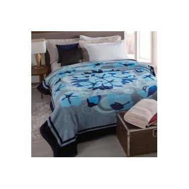 6574319ea5 Cobertor Microfibra Casal Dyuri Cinta Katmandu Azul Jolitex