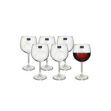 Jogo de Taças 06 Peças para Vinho de Cristal Gastro Titanium 600ml Bohemia