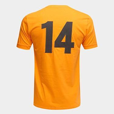 Camiseta Seleção Holanda Retro Times 1974 Masculina - Laranja - P