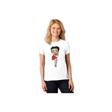 Camiseta Feminina T-shirt Betty Boop Baby Look Es_025