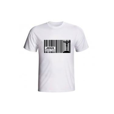 Camiseta Jesus Pagou Tudo Boleto Dívida Amor Cruz Cristo