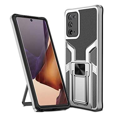 MOONCASE Capa para Samsung Galaxy Note 20, suporte magnético para carro, capa protetora à prova de choque para Samsung Galaxy Note 20 de 6,5 polegadas - Prata