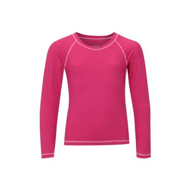 Camiseta Manga Longa com Proteção Solar UV50 Oxer - Infantil - ROSA ESCURO  Oxer e116a880a0fb5