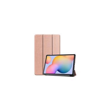 Imagem de Tablet Case para Samsung Tab S6 Lite 10.4 (P610 / P615) Slim Magnético Dobrável Suporte - Rosa