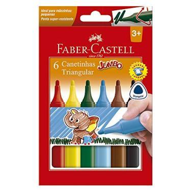 Canetinha Hidrográfica, Faber-Castell, Jumbo, 15.0206J, 6 Cores