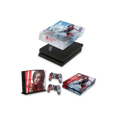 Capa Anti Poeira e Skin para PS4 Fat - Mirror'S Edge Catalyst