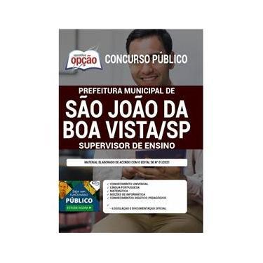 Imagem de Apostila Concurso São João Da Boa Vista Supervisor De Ensino