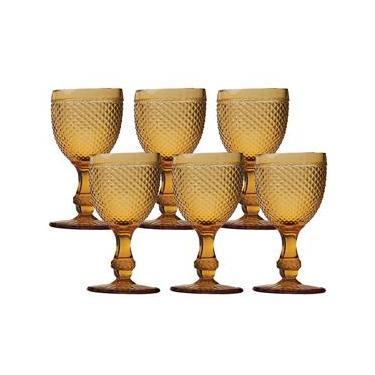 Conjunto de Taças para Água Bon Gourmet Bico de Jaca 6743 Âmbar - 6 peças