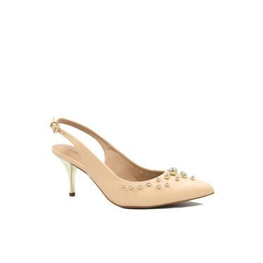 Sapato Cecconello Chanel Salto Metalizado