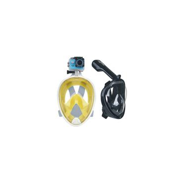 Máscara facial de respiração quente máscara facial de mergulho Snorkel Scuba para GoPro (l / xl)