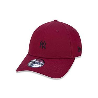 BONE 9FORTY ABA CURVA AJUSTAVEL MLB NEW YORK YANKEES ABA CURVA SNAPBACK VERMELHO ESCURO NEW ERA