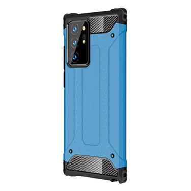 YINCANG Capa para Samsung Galaxy Note 20 Ultra, TPU macio e policarbonato rígido 2 em 1 Premium Heavy Case proteção de camada dupla à prova de choque anti-arranhões para Samsung Galaxy Note 20 Ultra 7,9 polegadas (azul