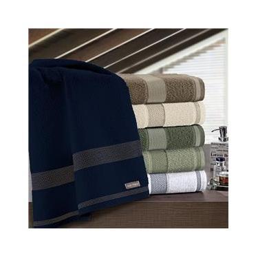 Imagem de Toalha de rosto felpuda linha Siena cor azul navy 100% algodão 50x80 - Buettner