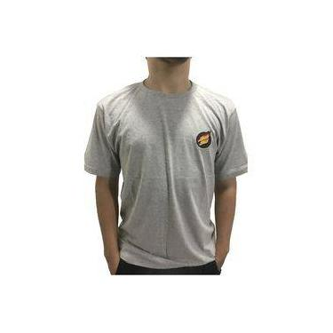 Camiseta Santa Cruz Flame Dot Bottom Cinza