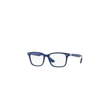Imagem de Óculos de Grau Ray Ban RB7144 5207 Masculino - Fibra de Carbono Azul