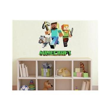 Adesivo de Parede Infantil Minecraft - Jogos Games