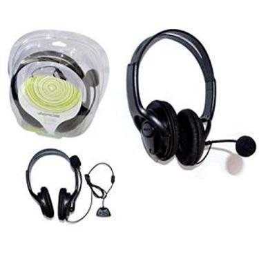 HEADSET FONE DE OUVIDO COM MICROFONE E CONTROLE DE VOLUME PARA XBOX 360