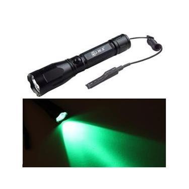 Lanterna Led Verde Caça Tatica Jws Green Acionamento Remoto