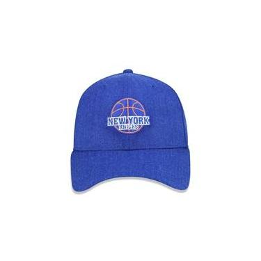 786372984da Bone 940 New York Knicks Nba Aba Curva Snapback Azul New Era