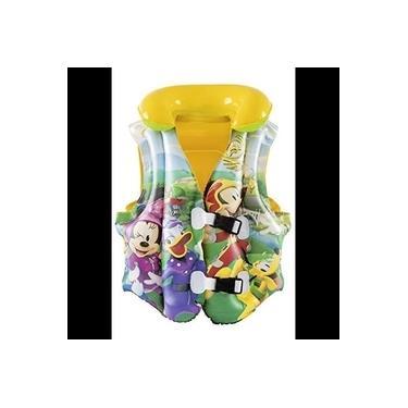 Imagem de Boia Colete Inflável Infantil Mickey Mouse Disney Criança