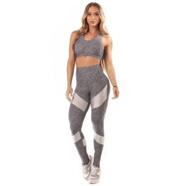 Legging Let'sgym Melange Sport Azul - M