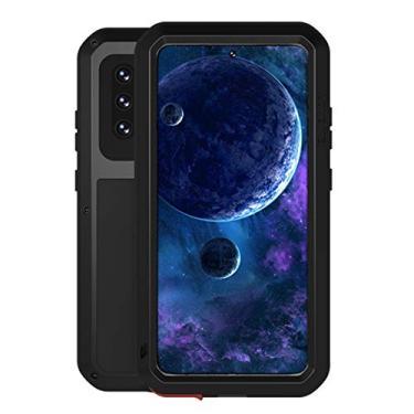 """Hicaseer Capa para Galaxy A52 5G, à prova de neve, à prova de poeira, metal de alumínio durável Gorilla capa de proteção total para Samsung Galaxy A52 5G 6,5"""" - Preta"""