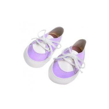 Imagem de Sapato Para Boneca American Girl - Tênis Lilás - Laço De Fita