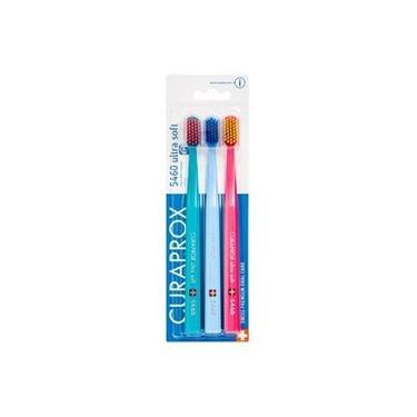 Escova Dental Adulto Curaprox Cs 5460 Ultra Soft Sensitive Trio Colorida c/ 3 Unidades