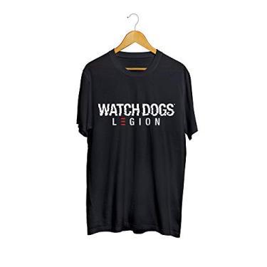 Camiseta Camisa Watch Dogs Legion Masculino Preto EXCLUIR Tamanho:M;Cor:Preto