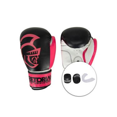 Kit de Boxe Pretorian: Bandagem + Protetor Bucal + Luvas de Boxe Start - 10 OZ - Adulto Pretorian Unissex