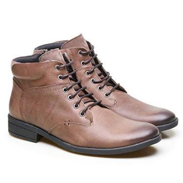 Bota Coturno Masculina em Couro Calvest BLA – Bronze 3920C534-36