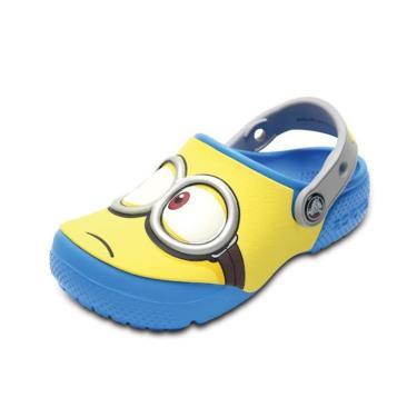 Sandália Crocs Funlab Minions Clog Azul  menino
