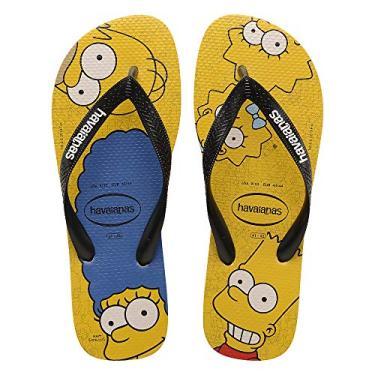 Sandalias Havaianas Simpsons Havaianas Criança Unissex Amarelo Banana/Preto 31/32