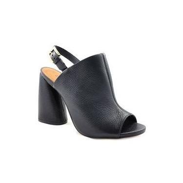 Sandália Feminina Open Boot Salto Bloco Em Couro Carrano 139302