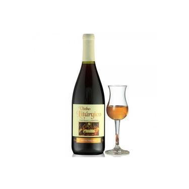 Vinho tinto licoroso doce; Marca - Beneditino Canônico.