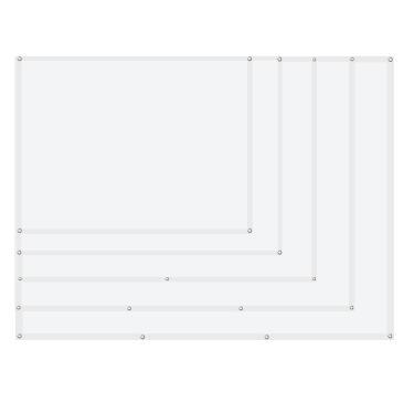 60 72 84 100 120 Polegada 4: 3 Tela de Projeção Reflexiva de Alto Brilho Pano Dobrável de Tecido Pano para Filme Exterio Banggood
