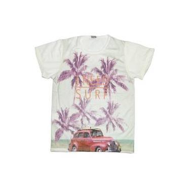 Camiseta Infantil Menino Need Surf Com Carro Vermelho