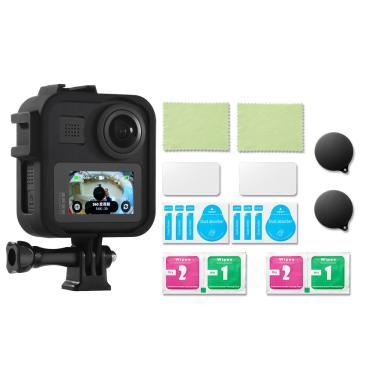 Caso Shell Frame Lens Cap 9H filme temperado de proteção para GoPro Max Action Sports Camera Banggood