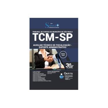 Imagem de Apostila TCM SP Auxiliar Suporte Administrativo