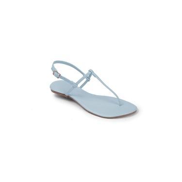 Sandália Flat Feminina Básica Mercedita Shoes Azul Bebê