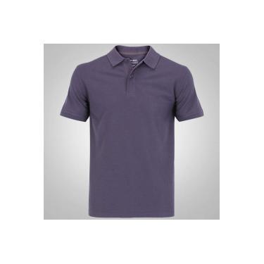 Camisa Polo Oxer Básica Terry - Masculina - CINZA ESCURO Oxer 49a63cbb18b0b