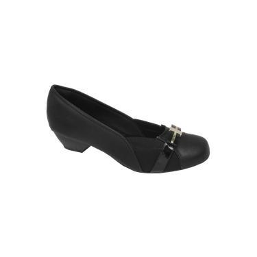 Sapato Feminino Numeração Especial Anaflex 283486 Preto Tamanho 43