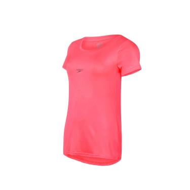 Speedo Basic Strech Camiseta de Manga Curta, Mulheres, Rosa, P