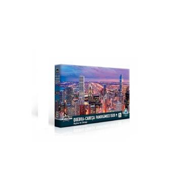 Imagem de Quebra - Cabeça Panorâmico 1500 peças - Skyline de Chicago - Toyster