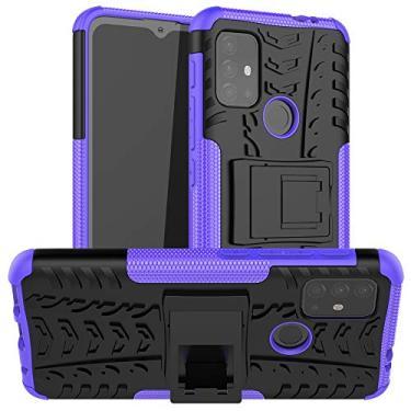 Imagem de N\B Capa para Moto G10, capa híbrida para Moto G10, proteção de camada dupla à prova de choque, capa híbrida resistente com suporte para Motorola Moto G10