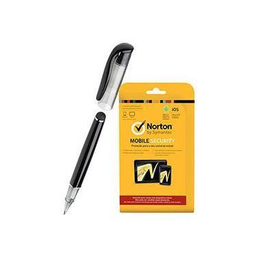 Kit:Norton Mobile Security 2014 - 1 Usuário + Caneta para Tablets - Kensington Stylus Virtuoso Metro